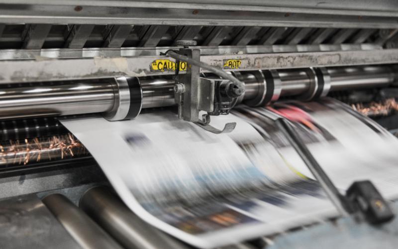 newspaper printing press from Unsplash https://unsplash.com/photos/Tzm3Oyu_6sk