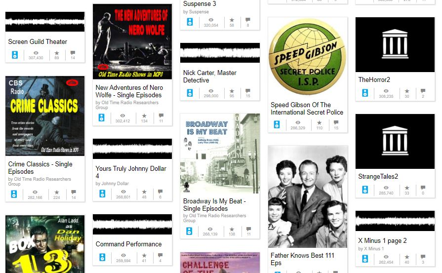 Old-time radio recordings in the database