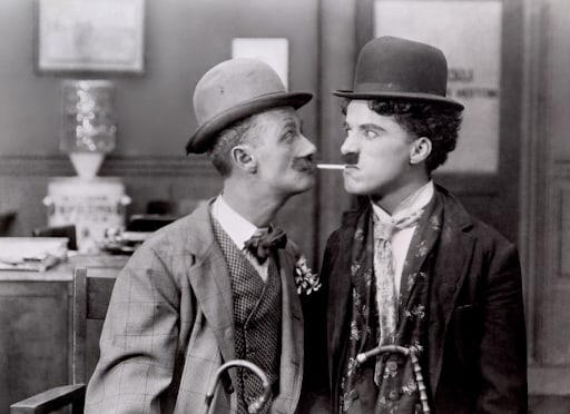 From the archived movie His New Job ft. Charlie Chaplin
