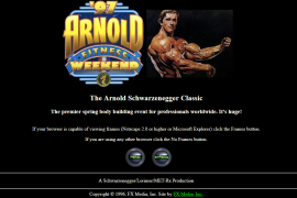 Schwarzenegger.com screenshot 1996