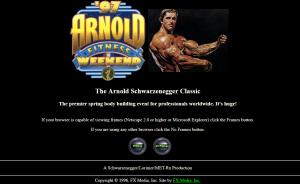 Schwarzenegger.com screenshot 1996
