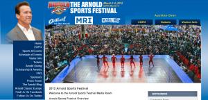 ArnoldSportsFestival.com 2012 website screenshot