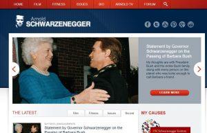 Schwarzenegger.com 2018 website screenshot
