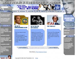 Schwarzenegger.com 2004 website screenshot
