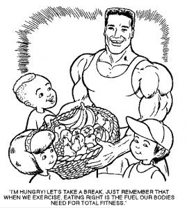 Schwarzenegger.com 1996 coloring book screenshot