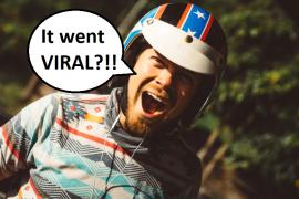 "Man happily saying ""It went VIRAL?!!"""